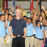Mark Terry with Climate Students in the Dominican Republic